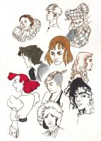 what a sketchdump 2 -floating heads by captainhawkeh