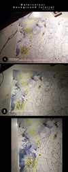 night background watercolour tutorial by namirenn