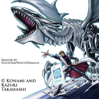 Kaiba and Blue-Eyes White Dragon Render by HolyCrapWhiteDragon
