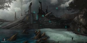 Azad Cypress facility Concept art. by Azlaar