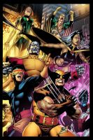 Byrnes X- Men team by rainerpetterart