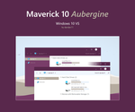Maverick 10 Aubergine - Windows 10 Theme by dpcdpc11