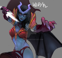 WIP!QueenOfPain by artmunnn