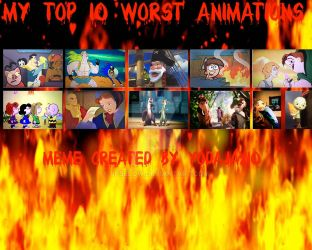 My Top 10 Worst Animations by jpbelow