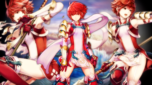 Fire Emblem Heroes - Hinoka Wallpaper by AuroraMaster