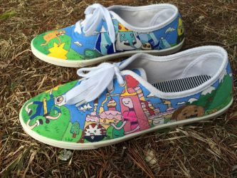 Adventure Time Painted Shoes Part 2 by olivia808