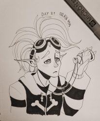 Inktober 2018 Day 21: Drain by TamarinFrog