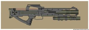 Future Fully Suppressed Rifle by Direrain