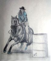 Barrel Racer by ShyloLove