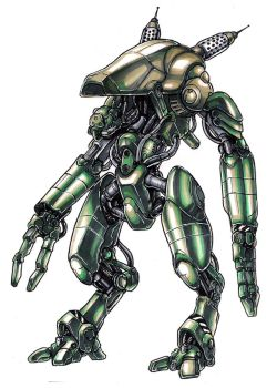 Green Robot Marker Rendering by Silver-Fate