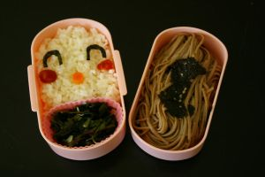 Happy Monkey Bento by TheSpyderDuster