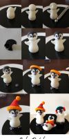 Edible Penguin step by step by Naera