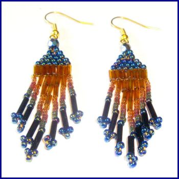 Mystic Forest Beaded Earrings by Milliebead