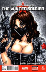 Busty Winter Soldier sketch cover by gb2k