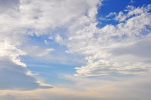 big blue cloudy sky by Openget