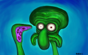 UNSURE SQUIDWARD by rubbe