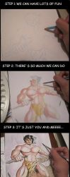 FRIDAY SKETCH STEP BY STEP by paintmarvels
