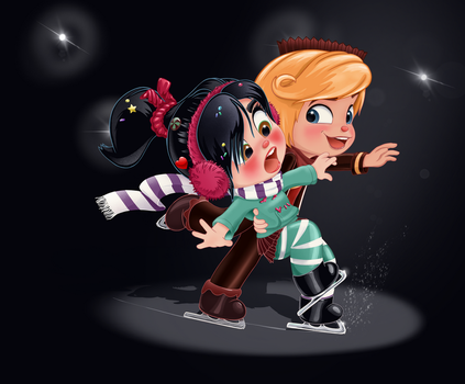 Vanellope and Rancis - Trust Me by artistsncoffeeshops