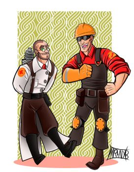 TF2 Day 6: Wearing eachother's clothes by DeathRage22