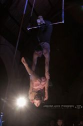 Duo Trapeze Under Spotlight by Distorted-Lenns