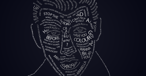Alex Turner Typography by MyDreamPixies
