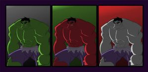 Many Colors of Hulk by JoshawaFrost