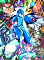Mega Man Unlimited 3rd Anniversary Cover Art by MegaPhilX