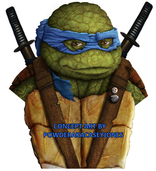 TMNT Leonardo Live Action Concept Art by PowderAkaCaseyJones