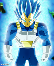 Super Vegeta SSJ Blue by SaoDVD