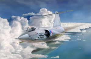 Starfighter F-104 Over the coast by NLS61