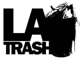 LA Trash  LOGO White by JamesRuthless