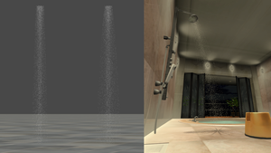 Shower (Water streams) for XPS by dasliebesverbot