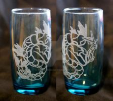 -Etsy- Blue Laser Engraved Gyarados Glass by Nortiker