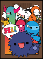 monster poster by pronouncedyou