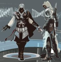 The two assassins by ElectricXfighter
