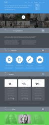 Freebie PSD: Twish Single Page Website Layout by shiftlab