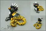 Shiba the Leopard Griffin - polymer clay by CalicoGriffin