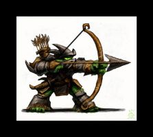 Orc Archer Toon by VegasMike
