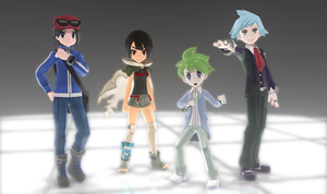 MMD Pokemon Protagonists DL Off by Jakkaeront