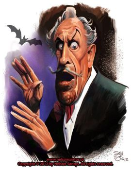 Vincent Price Happy Halloween Illustration by nelsonsantos