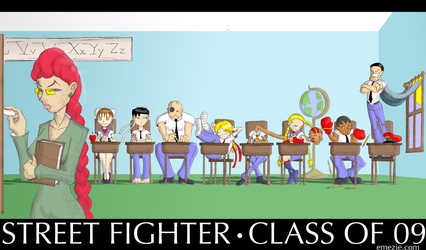 Street Fighter Class of '09 by Emezie