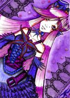ACEO 110 dark butterfly by Lulana