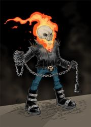 Ghost Rider color by bustrucket