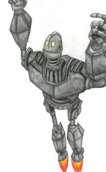Iron Giant Flying #2 by RaynaOfTheDead
