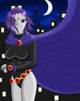 Raven in the Moonlight by Chrysoprase