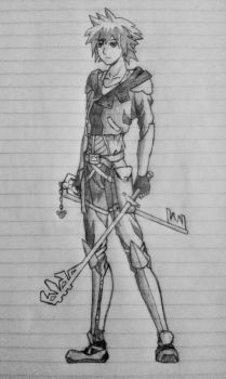 Sketch 07 - Sora, Kingdom Hearts by tophats96