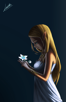 Silent Princess, Zelda Breath of the Wild by Leordan