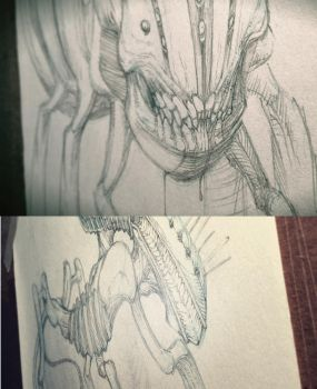 grubphant and finger walker / sketches by srwsboyce
