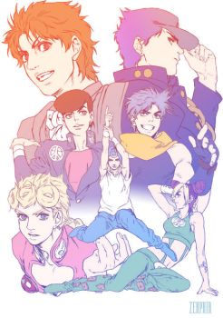Joestar Family by Zehphir