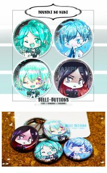 Houseki no Kuni Button set by jinyjin